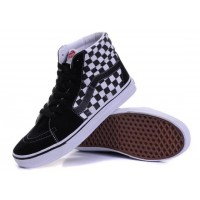 VANS SK8 HI CHECKERBOARD BLACK TRUE WHITE