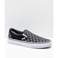 VANS SLIP ON BLACK PEWTER CHECKERBOARD