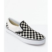 VANS SLIP ON BLACK WHITE CHECKERBOARD